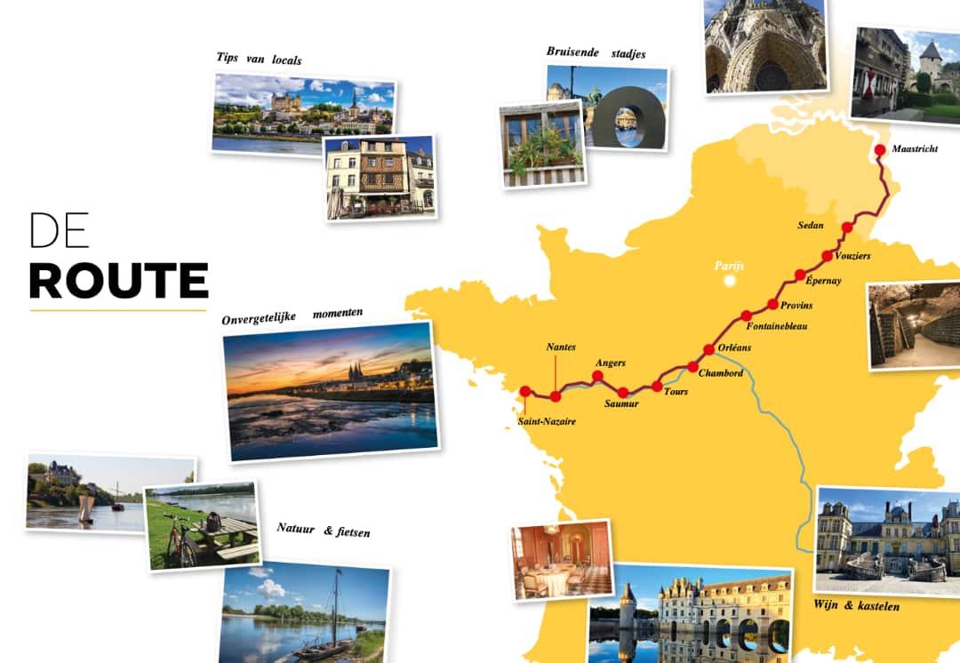 Frankrijk Binnendoor, route Loire
