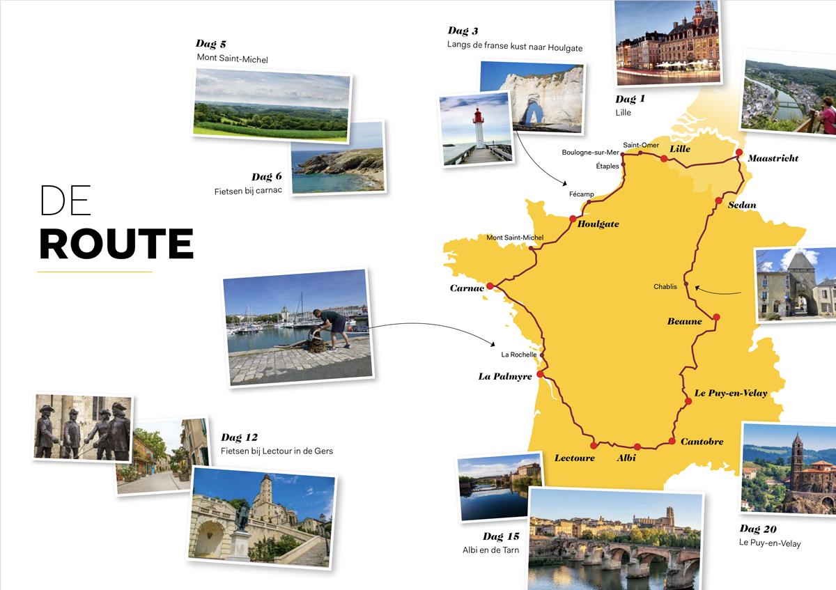 Route Frankrijk Binnendoor, ontdek het andere Frankrijk